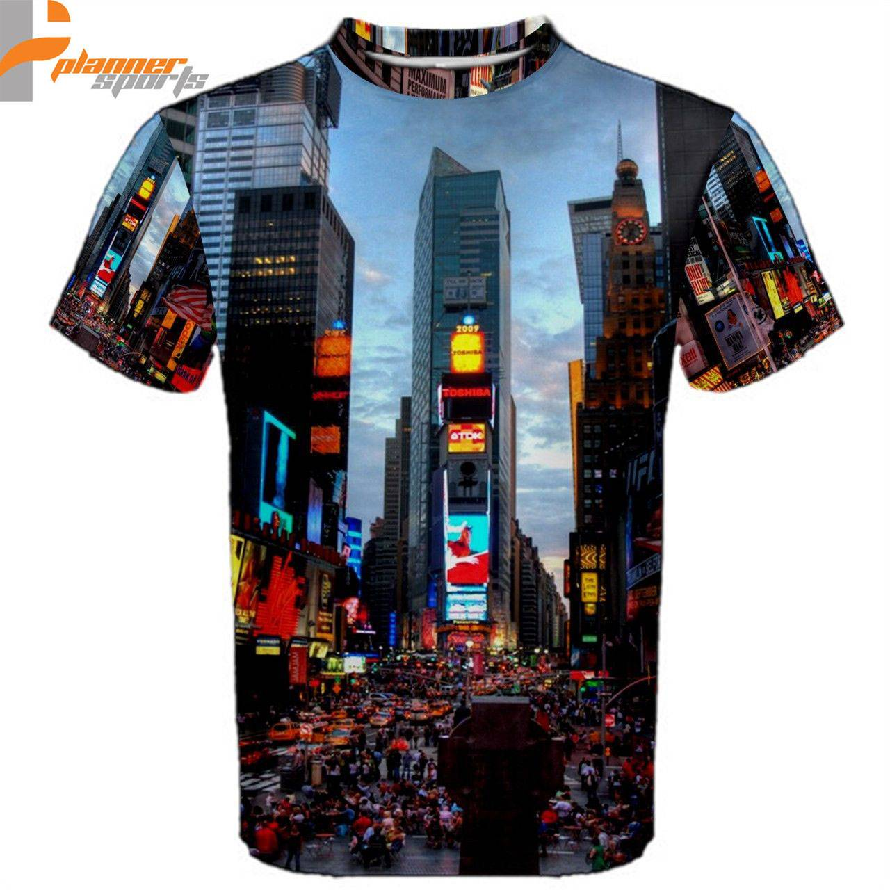 New York Times Square Sublimated Sublimation T-Shirt S,M,L,XL,2XL,3XL