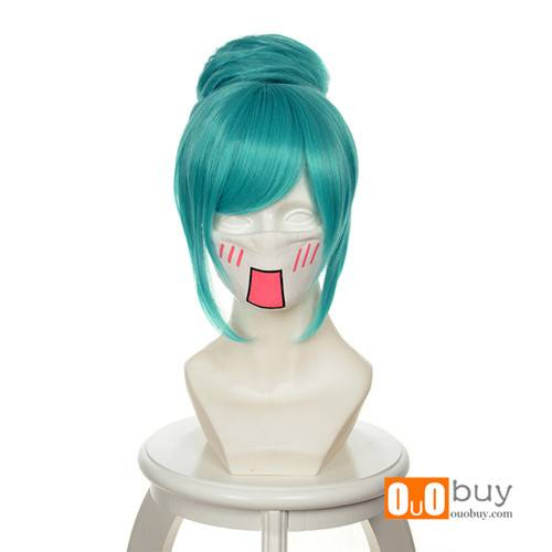 Hatsune Miku:Project DIVA Diver Mixed Water-Blue Special Styling Cosplay Wig