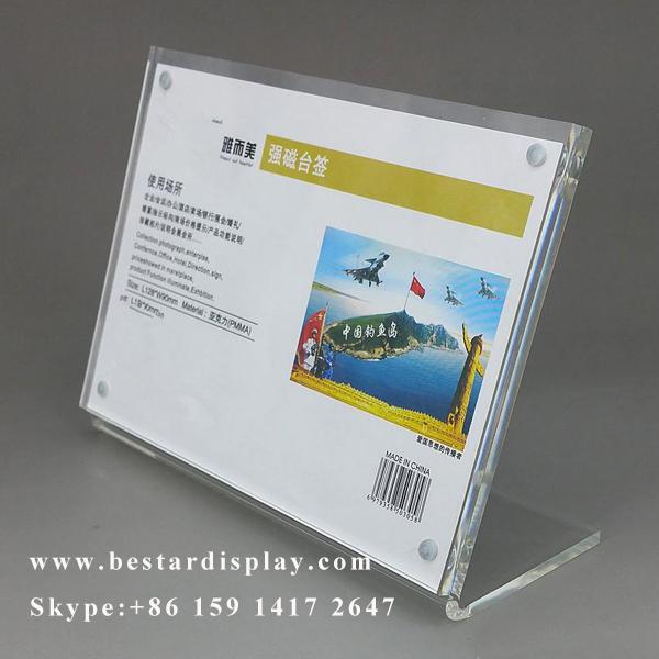 Custom design Plexiglass PMMA acrylic menu holder