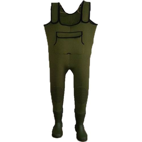 Green neoprene waders waterproof