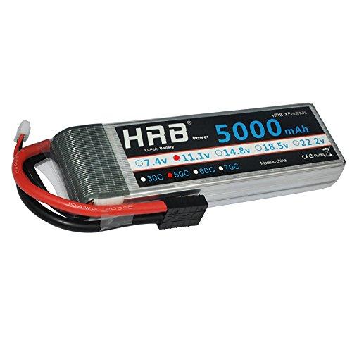 HRB 11.1V 5000mAh 3S 50C-100C Akku LiPo Battery With Traxxas TRX plug for RC DJI F450 Quadcopter RC