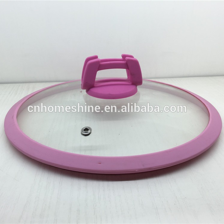tempered glass lid with silicone rim