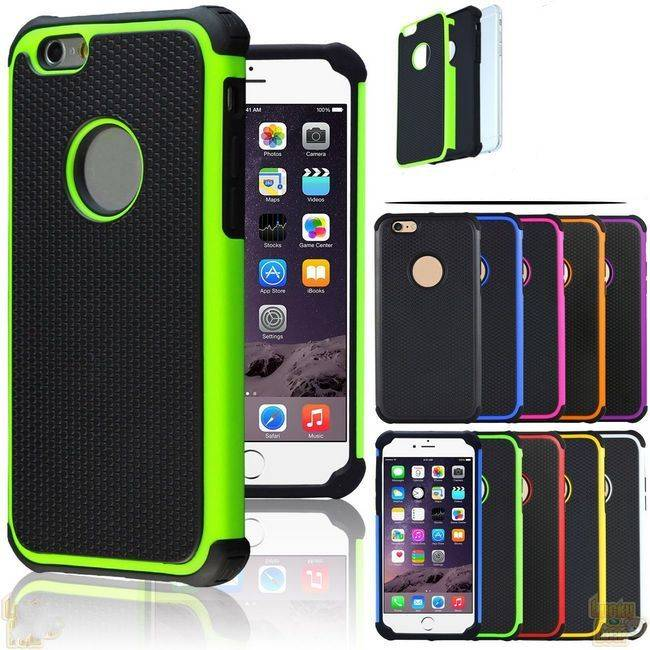 for iPhone 6 Hybrid Case,Shock Proof Heavy Duty Armor Cases Skin Cover for iPhone 6S Plus IP6C15