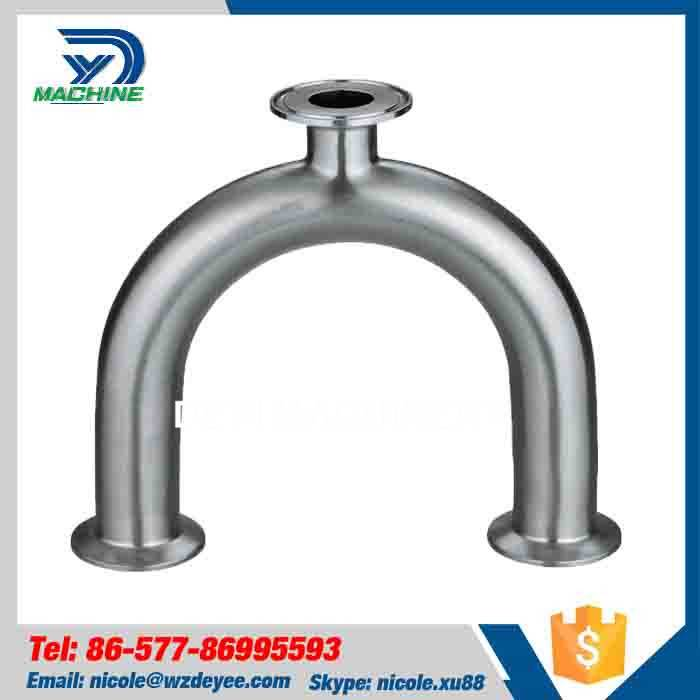 China Sanitary U type Tri clamp Tee