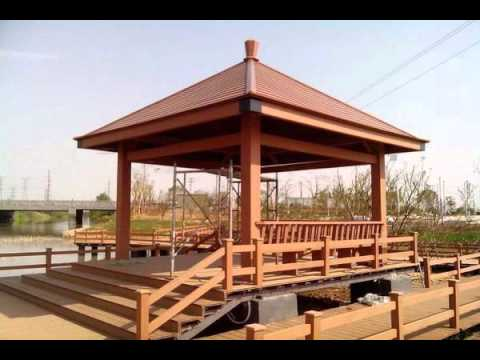 new design chinese wood gazebo