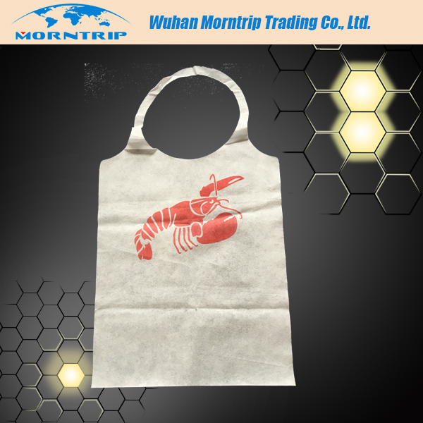 High Quality Disposable Restaurant Bibs with Customized Printing
