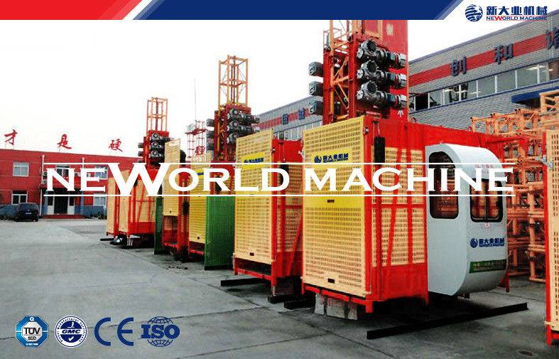 Single Or Double Cage Construction Hoist Sc200/200 , 4000Kg Capacity