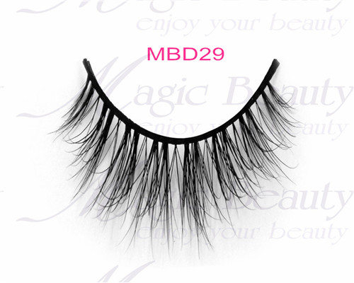 Real Siberian 3D Mink Fur Make up Lashes MBD29 by Handmade Cruelty-free