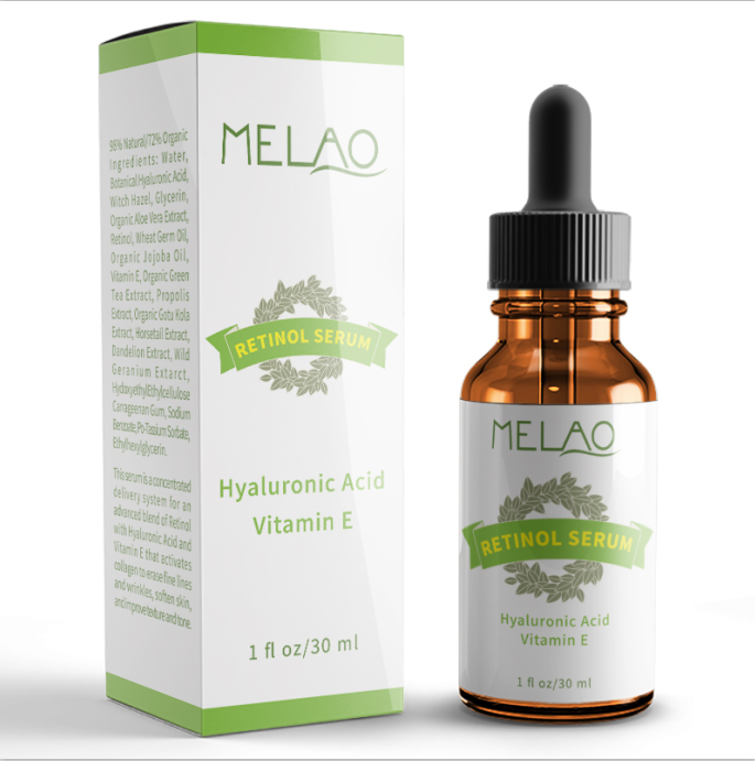 MELAO Retinol Serum 2.5% with Hyaluronic Acid & Vitamin E, 1 fl. oz.