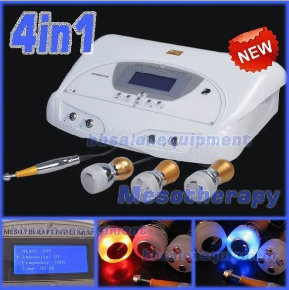 4 IN 1 Ultrasonic Needle Free Meso therapy Cold Photon Spa Facial Machine