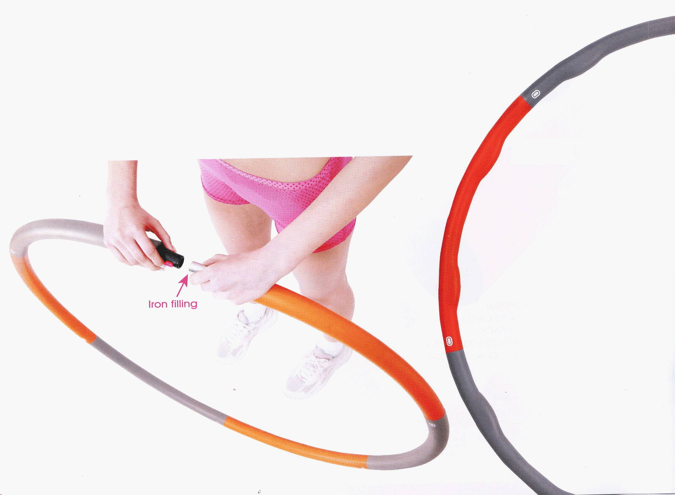 HR-049 ( Adjustable Weighted Wave hula ring )
