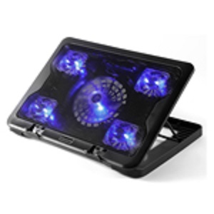 NCP88 5.6 laptop cooler stand 5 LED fan notebook cooling pad with speed control