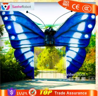 Amusement park decoration butter-fly metal garden insect gate
