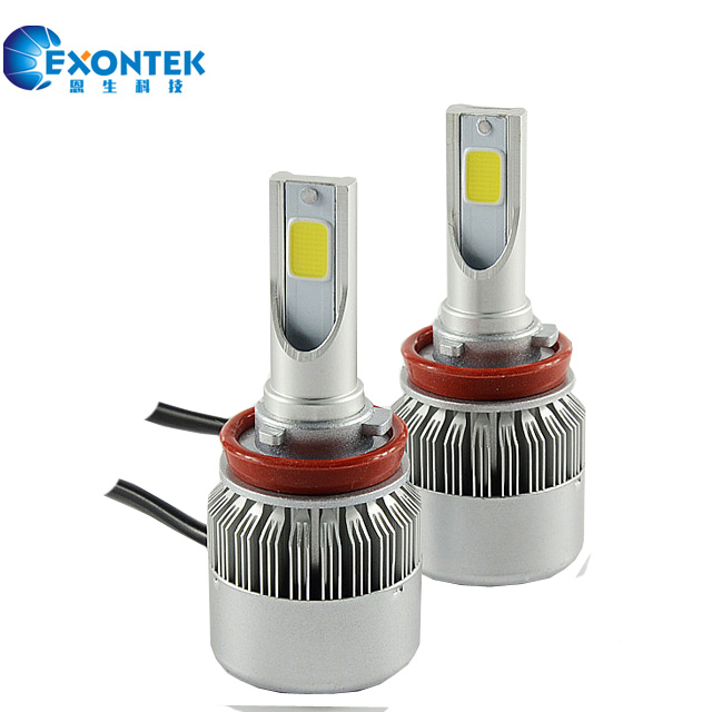 C6 30W with Auto LED Lamp H7 H8 H11 9005 9006 High Power COB All-in-One LED Headlight Bulb