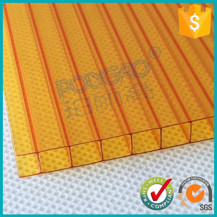 wholesale PC polycarbonate twin wall hollow sheet for swimming pool cover