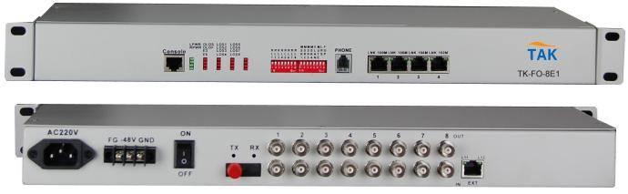 4/8/16E1+1-4 Ethernet FE PDH fiber optical multiplexer with fiber redudancy function