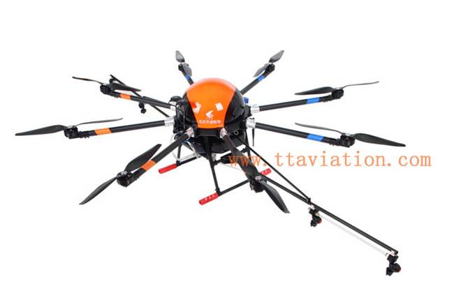 heavy payload 8L/10L capacity + 8 rotor agricultural drone for crop spraying