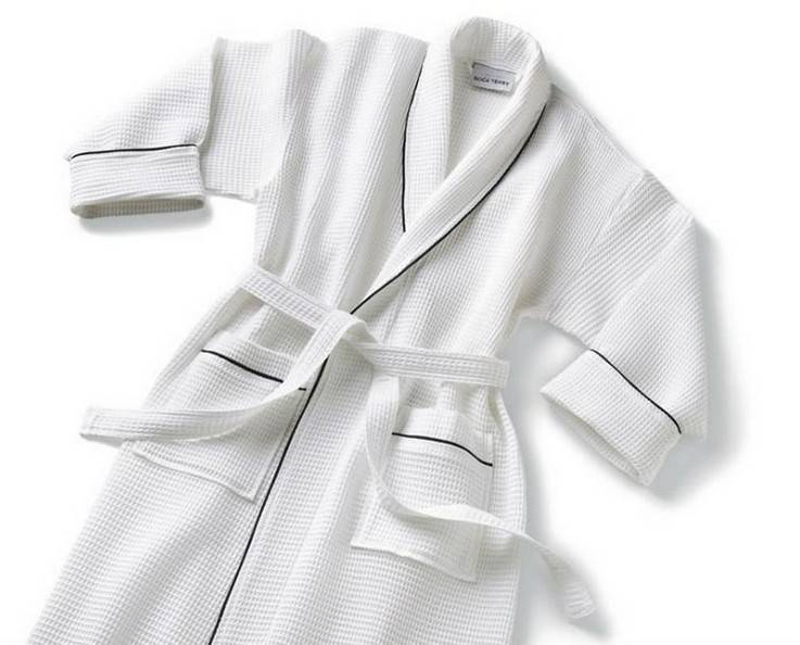 manufacturer and wholesale cheap 100 percent cotton breathable waffle bathrobes