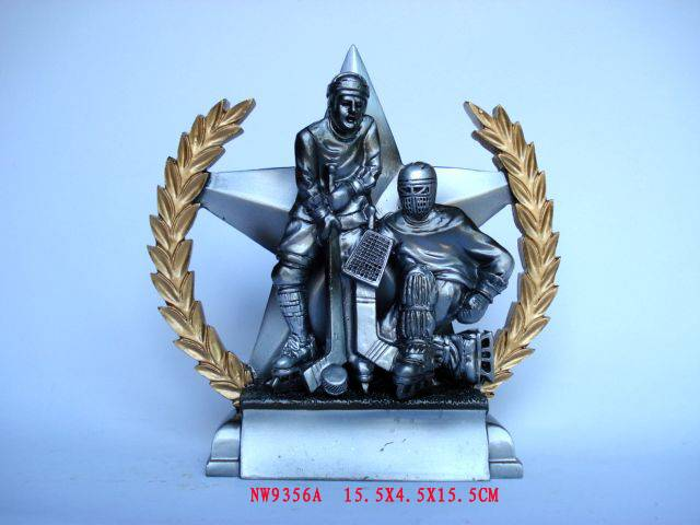 resin trophy,hockey trophy ,resin sport trophy,polyresin figurines