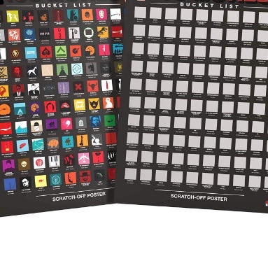 Scratch-off Chart Poster Holographic on PET Silkscreen on Paper or PET wholesale