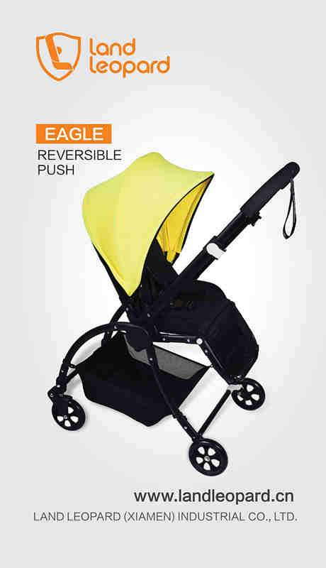 2016 Land Leopard simple Eagle-series baby prams supplied with smart multi-function seat unit for mo