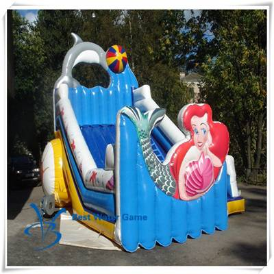 Mermaid theme Inflatable slide for sale