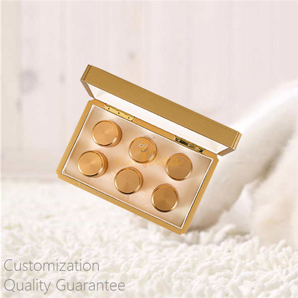 Luxury High Gloss Gold Color MDF Wooden Tea Tins Presenter Gift Box