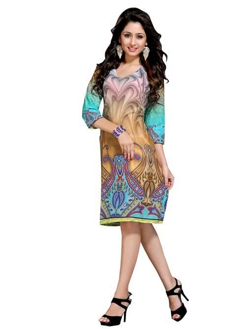 cotton multicolour colour  printed kurti  VTVIC-024