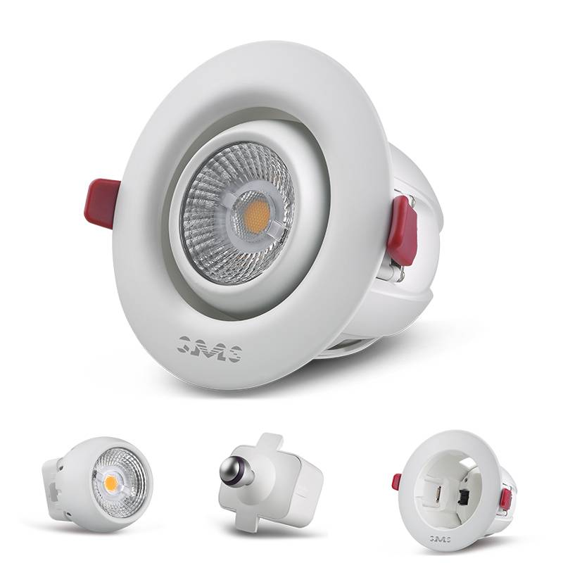 New design 6.5W dimmable detachable recessed LED downlight