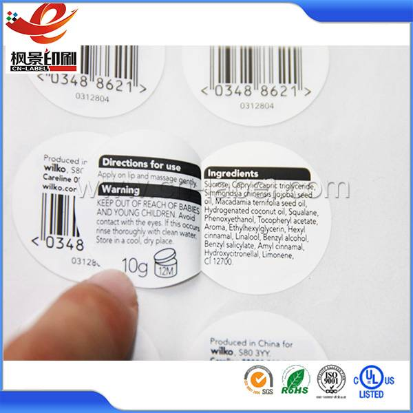 Made in China specially printed double layer labels