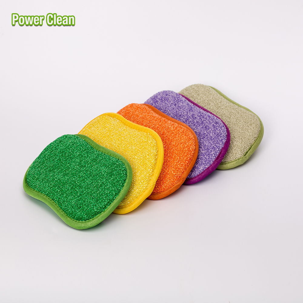 Colorful Dish Cleaning Antibacterial Microfiber Sponge For Dishes