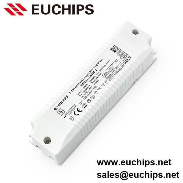 180/240/300mA 1 channel 12W constant current 1-10v driver EUP12A-1WMC-1