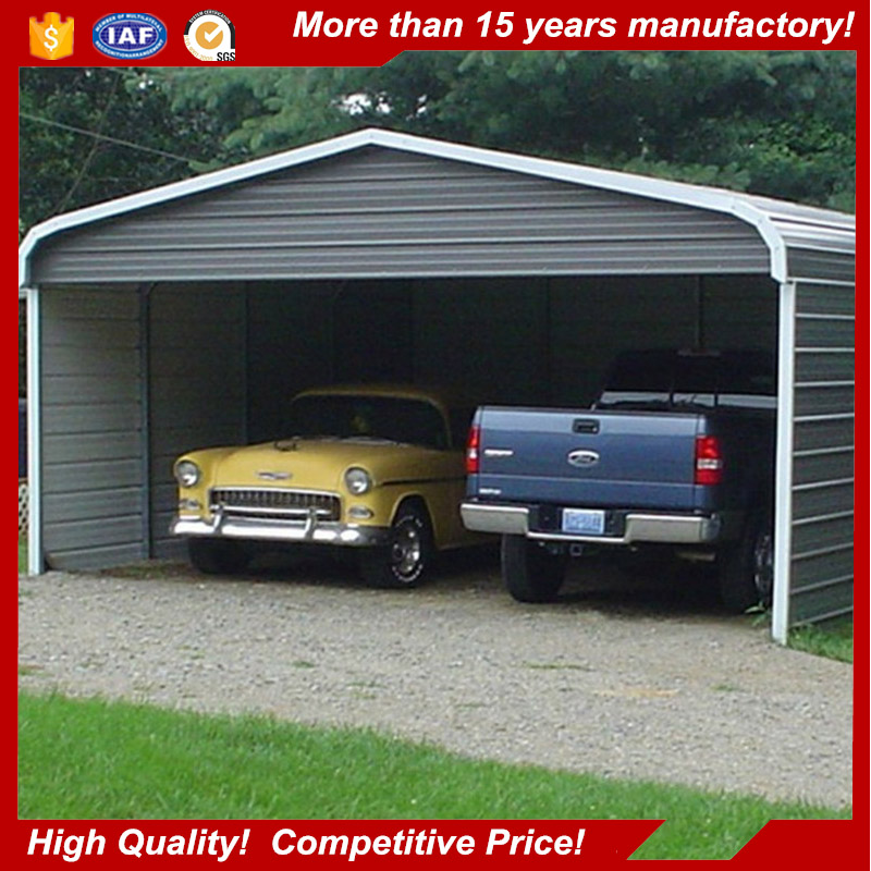 Prefabricated portable steel building metal tube garage for car