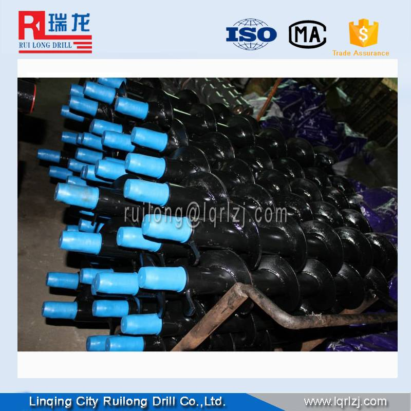 Twist Spiral drill pipes,auger drill rod