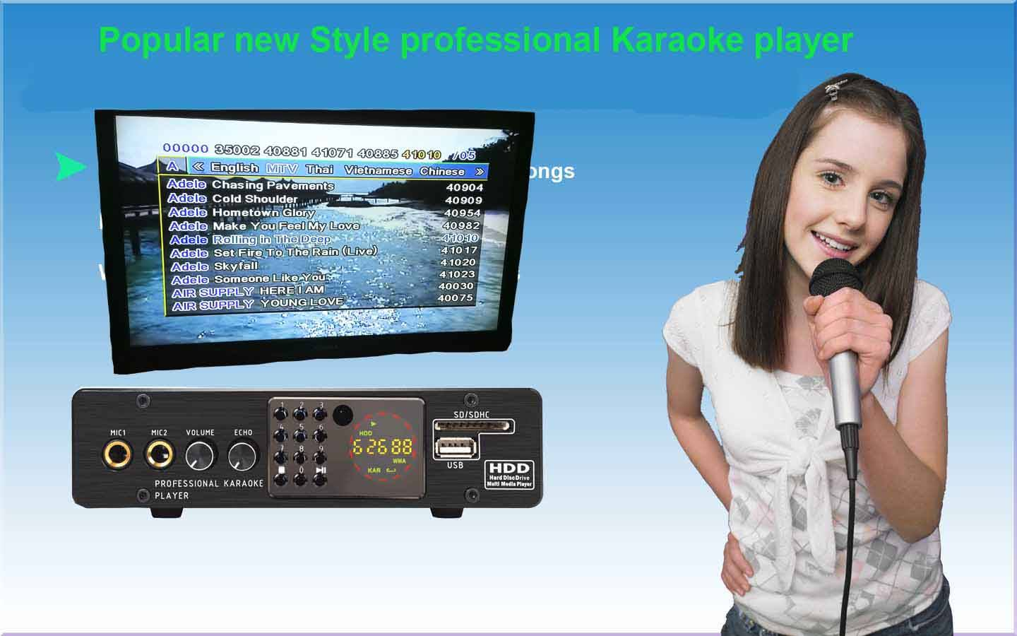 Mini HDD/SD/USB Karaoke Player