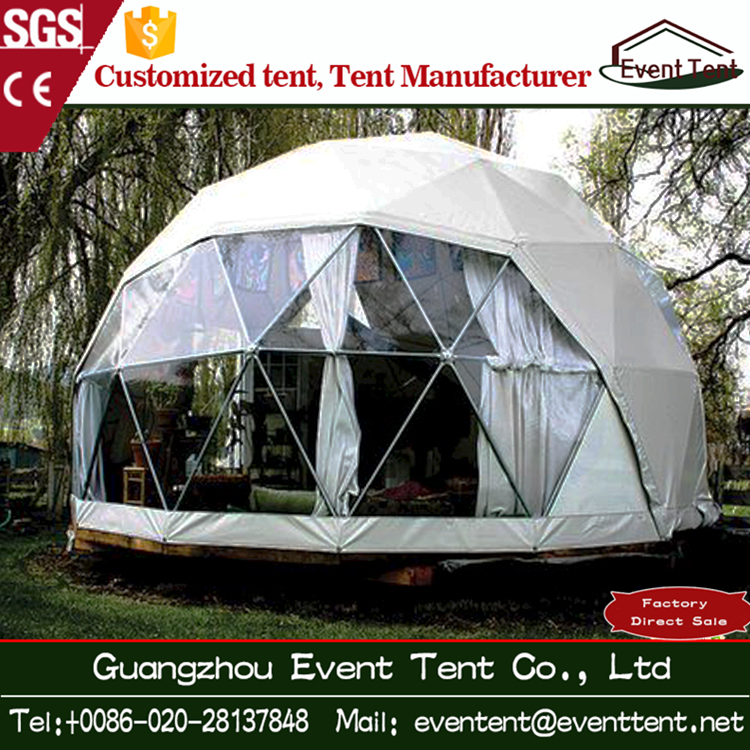 Snow sand resistant Tent fabric Movable Geodesic Dome House outdoor glamping dome tent