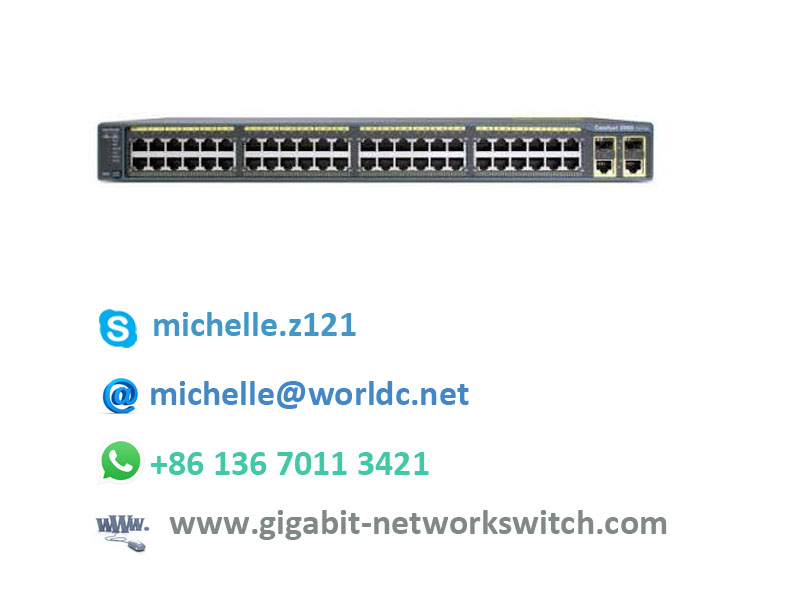cisco 10/100mbps industrial poe switch WS-C2960+24PC-S