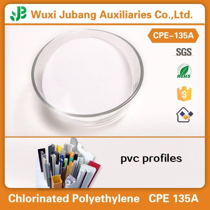 china chemical chlorinated polyethylene cpe 135 for pvc profile