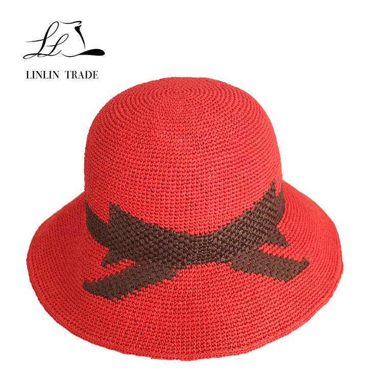 Hot selling custom color floppy summer lady beach straw hat