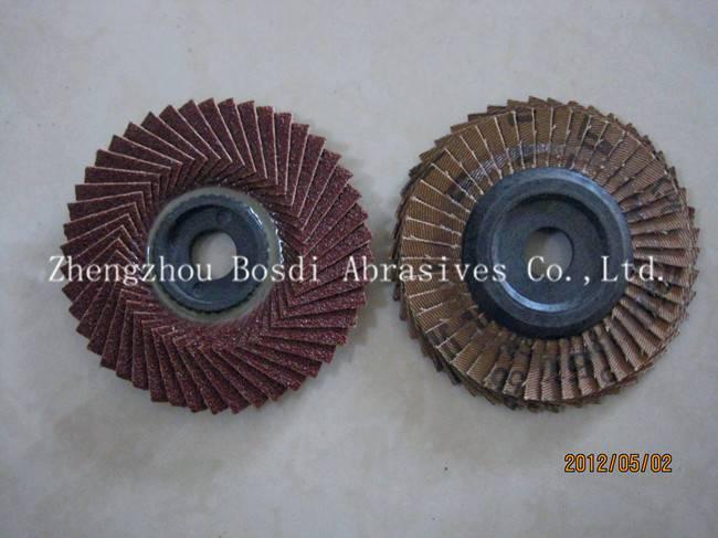 Aluminum Flexible Flap Disc Plastic backing
