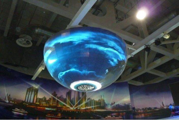 flexible led curtain display P8 led ball display indoor