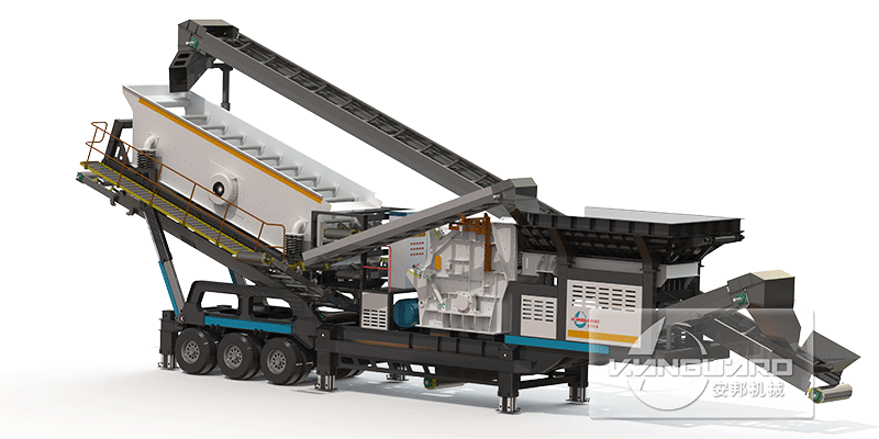 construction waste mobile crusher