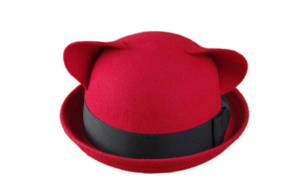 Winter Cute Wool Felt Hat With Ears (FW001008B)