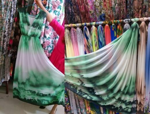dyed chiffon fabric/korea market fabric and textiles