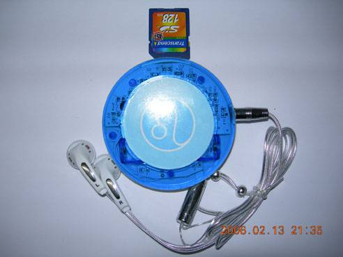 MP3 with inserting card