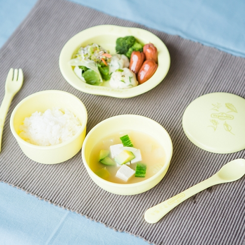 Eco friendly Baby Dish Set 6pcs made from cornstarch (PLA)