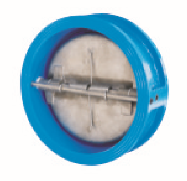 Wafer butterfly type check valves