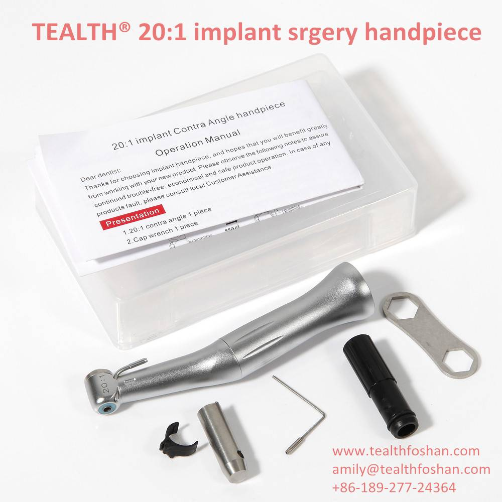 TEALTH® Push button 20:1 reduction implant surgery dental contra angle handpiece