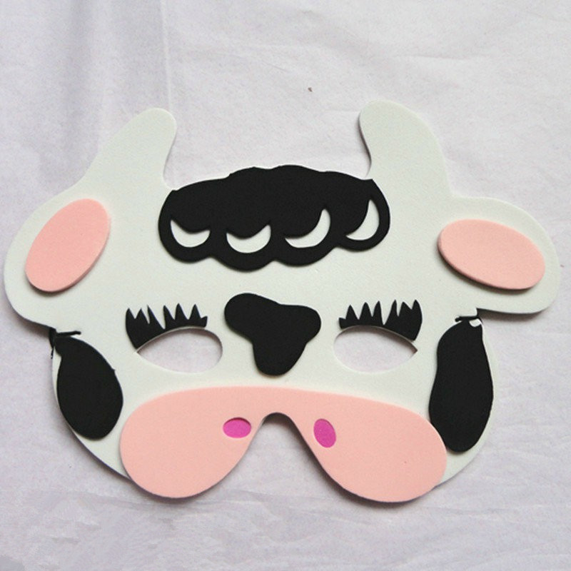 Halloween Christmas Children Cartoon EVA Forest Animal Cows Mask