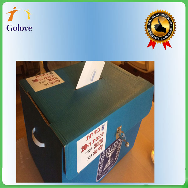 Eco-friendly Foldable Cardboard corrugated Ballot Booth